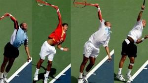 Sử dụng cổ tay đúng cách trong tennis